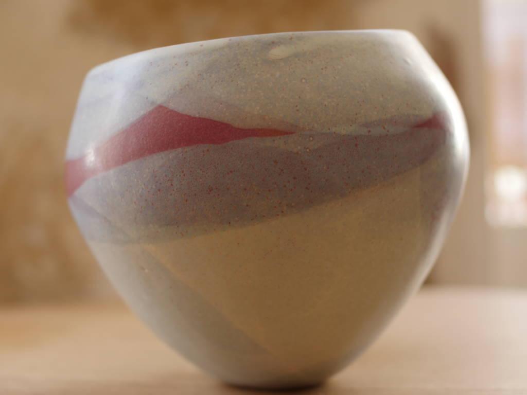 Pot de fleur céramique fait main en grès