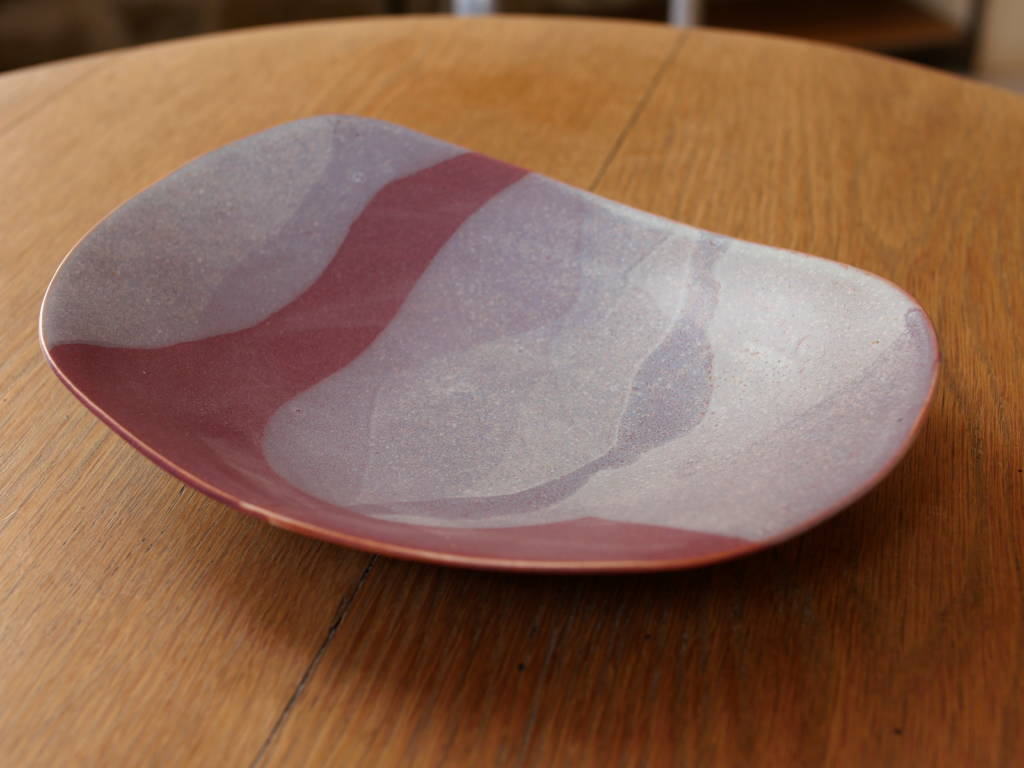 plat en céramique grès émaillé