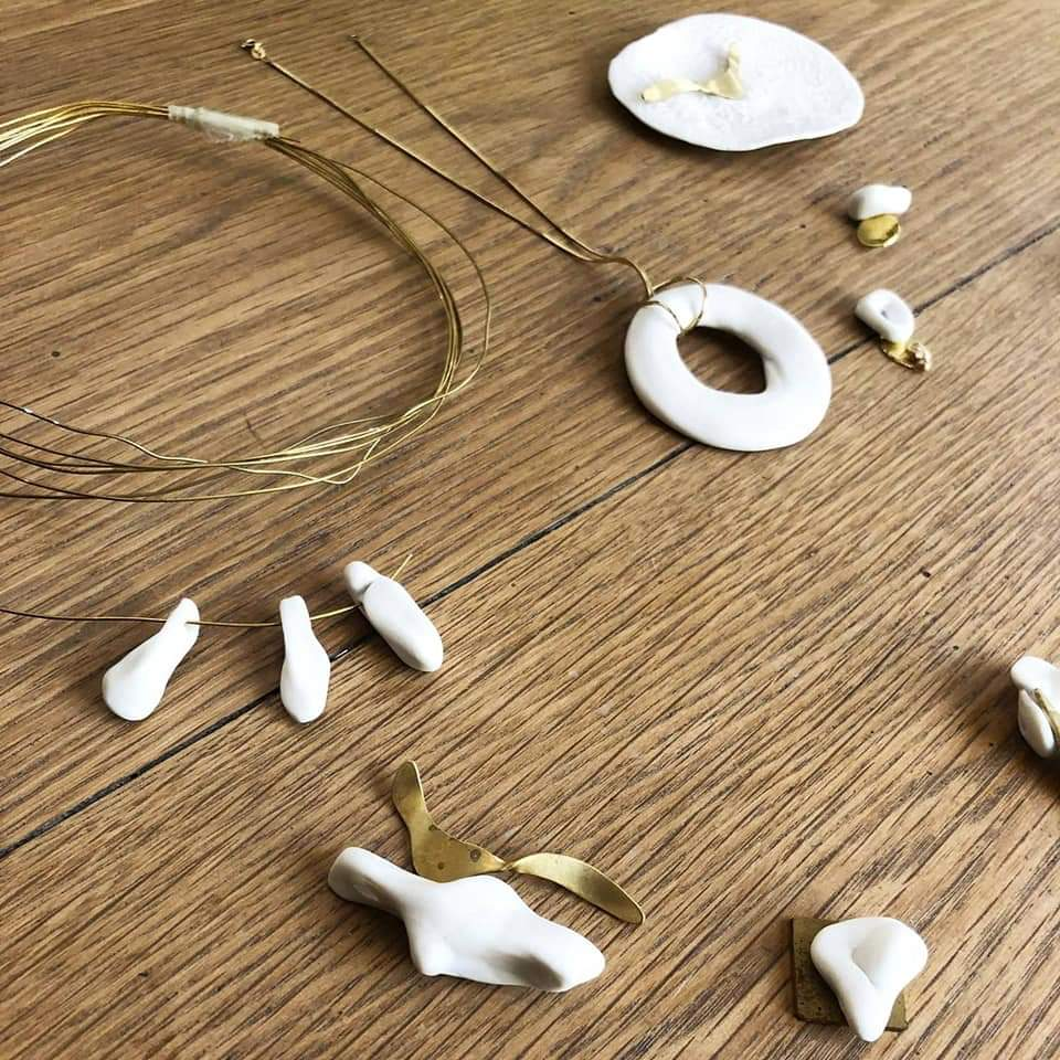 Creation bijoux en ceramique et metal